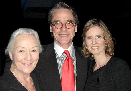 Rosemary Harris, Jeremy Irons and Cynthia Nixon at the Drama League Awards