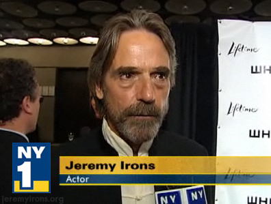 Jeremy Irons is interviewed at The Whitney Museum in NY