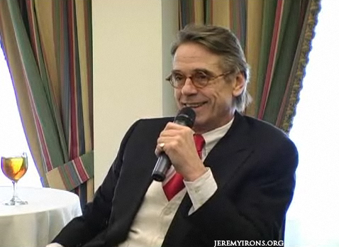 Jeremy Irons is interviewed by the Hudson Union Society