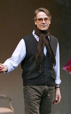 Jeremy Irons in Impressionism on opening night