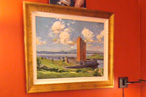 Kilcoe castle painting in Jeremy Irons dressing room