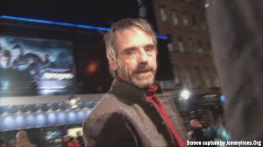 Screen caps of Jeremy Irons at the Eragon World Premiere