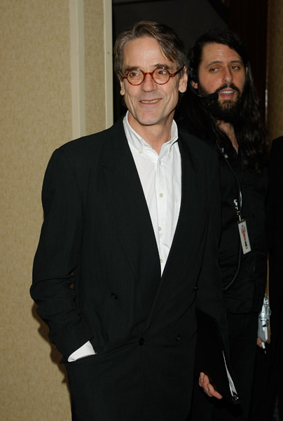 Jeremy Irons attends the Lucille Lortel Awards