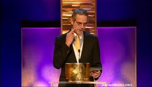Jeremy Irons announces the winner of the UK Teaching Awards!