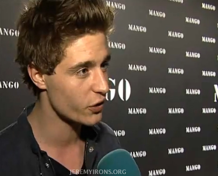 Jeremy's son Max Irons attends the Mango Fashion Awards!