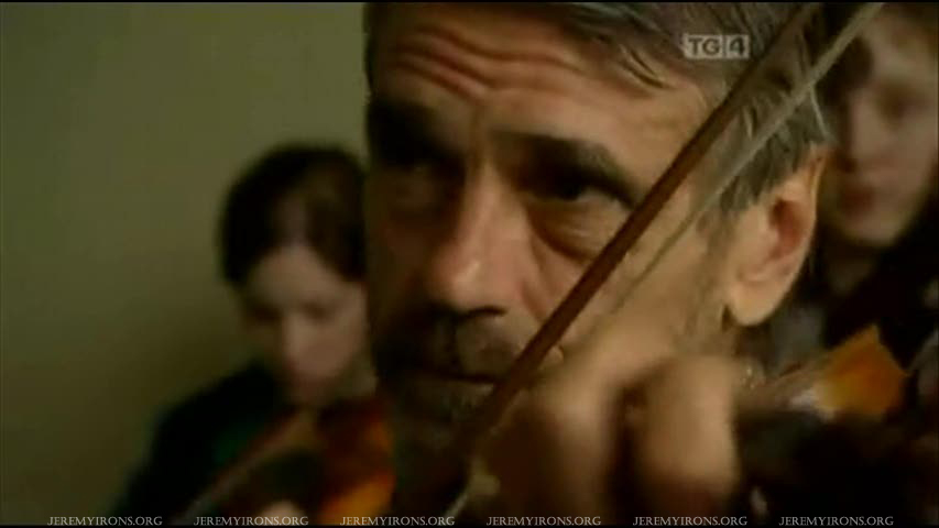 Listen to Jeremy Irons learning to play the Irish fiddle