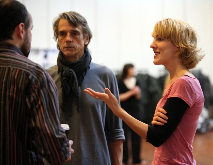 Jeremy Irons rehearsing for The Gods Weep
