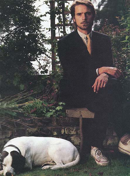 Jeremy Irons and his dog Speed