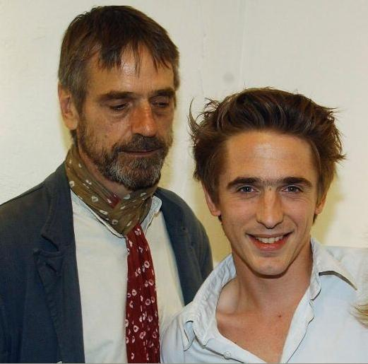 Jeremy Irons and Sam Irons