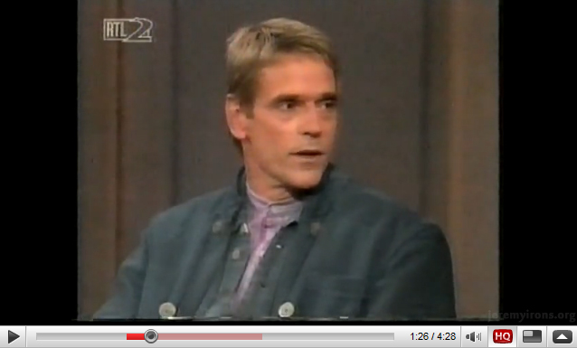 Jeremy Irons - 1995 interview - Part I