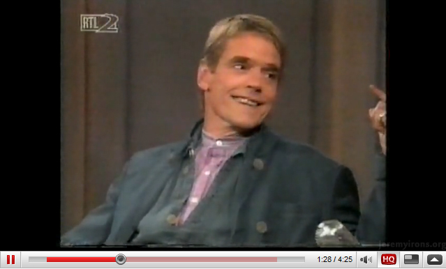 Jeremy Irons - 1995 interview - Part II