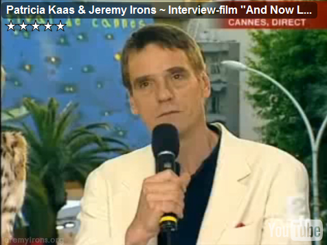 Jeremy Irons is interviewed in Cannes - 2002
